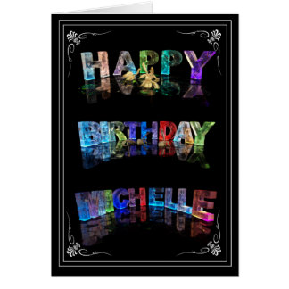 Michelle -  Name in Lights greeting card (Photo)