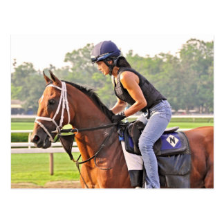 Michelle Nihei Training on Opening Day at the Spa Postcard