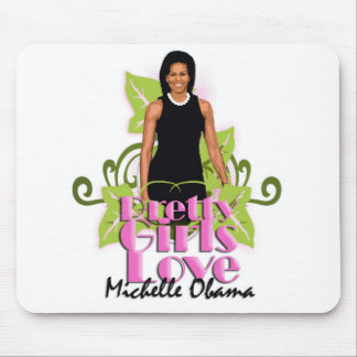 "Michelle O ""Pretty Girls Love"" Computer pad Mouse Pad"