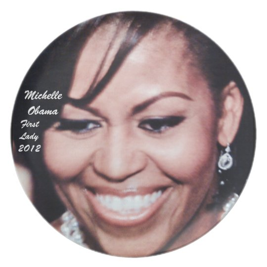 MICHELLE OBAMA, AMERICAN FIRST LADY plate