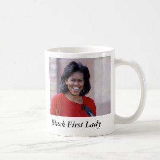 michelle obama, Black First Lady Basic White Mug