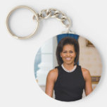 MICHELLE OBAMA Collectors Basic Round Button Key Ring