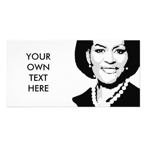 Michelle Obama Photo Greeting Card