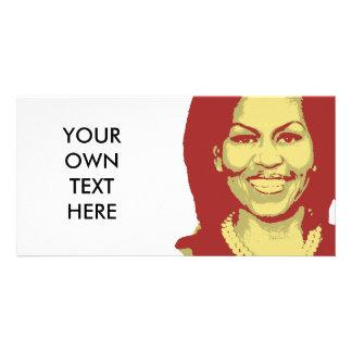 MICHELLE OBAMA TALK BUBBLE PERSONALIZED PHOTO CARD