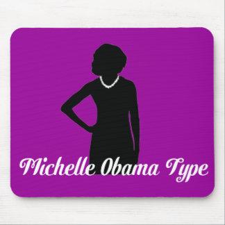 Michelle Obama Type Mousepad, Amethyst Purple