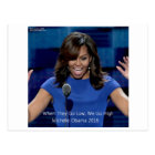 """Michelle Obama """"We Go High"""" Collectable Postcard"""