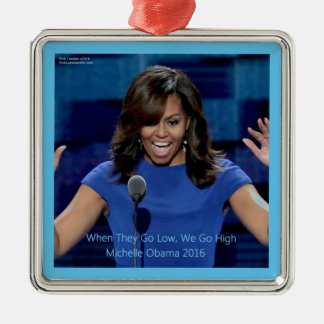 """Michelle Obama """"We Go High"""" Collectible Christmas Ornament"""