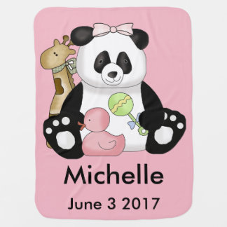 Michelle's Personalized Panda Baby Blanket