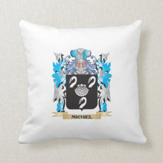 Michiel Coat of Arms - Family Crest Throw Pillows