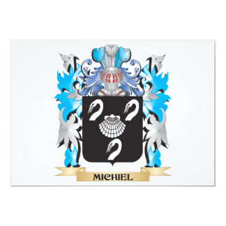"Michiel Coat of Arms - Family Crest 5"" X 7"" Invitation Card"