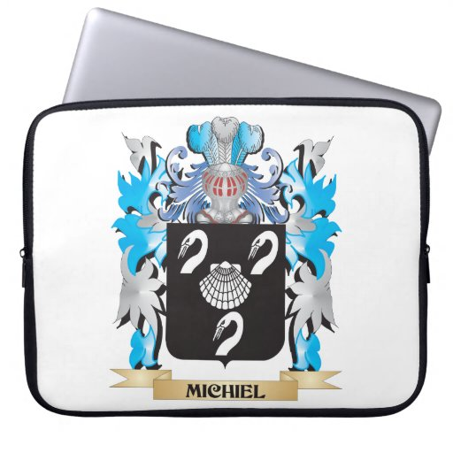 Michiel Coat of Arms - Family Crest Laptop Sleeves