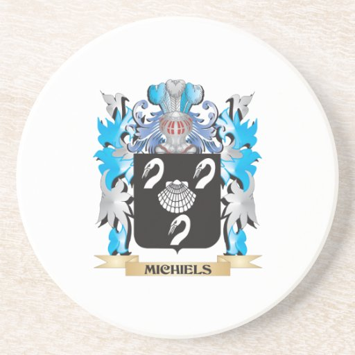 Michiels Coat of Arms - Family Crest Drink Coaster