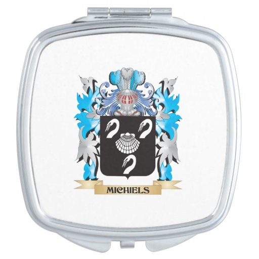 Michiels Coat of Arms - Family Crest Travel Mirrors