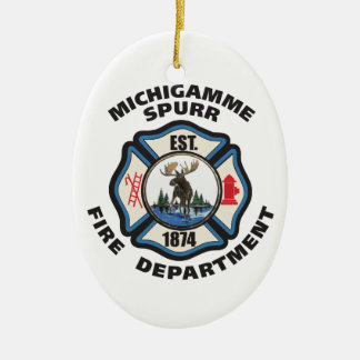 Michigamme Spurr Fire Department.logo items Ceramic Oval Decoration