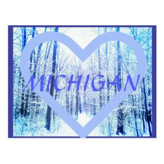 Michigan2 Winter Woodland postcard