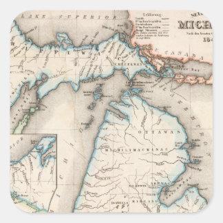 Michigan 2 square sticker