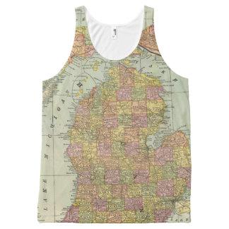 Michigan 4 All-Over print tank top