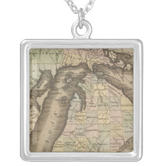 Michigan 4 silver plated necklace