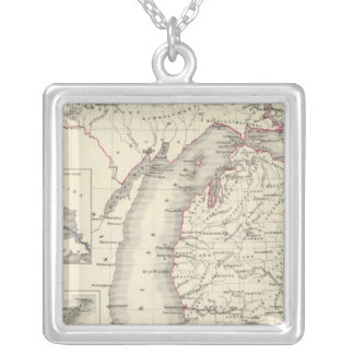 Michigan 5 silver plated necklace