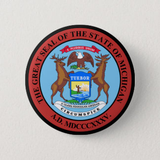 Michigan 6 Cm Round Badge