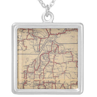 Michigan 6 silver plated necklace