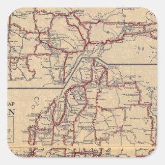 Michigan 6 square sticker