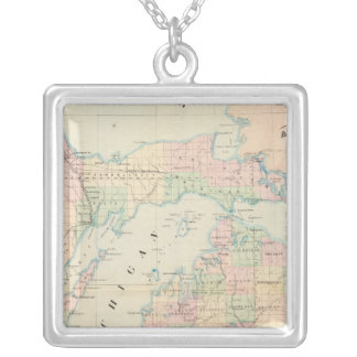 Michigan 7 silver plated necklace