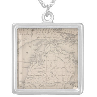 Michigan 9 silver plated necklace