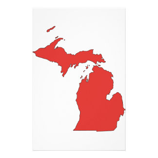 Michigan A RED State Custom Stationery