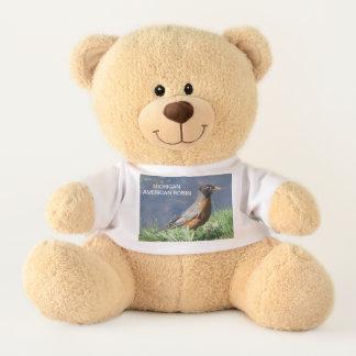 Michigan American Robin Teddy Bear