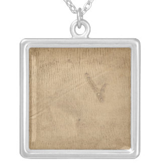 Michigan and Indiana Border Survey 2 Silver Plated Necklace