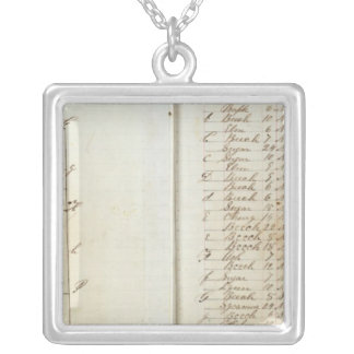 Michigan and Indiana Survey 3 Silver Plated Necklace
