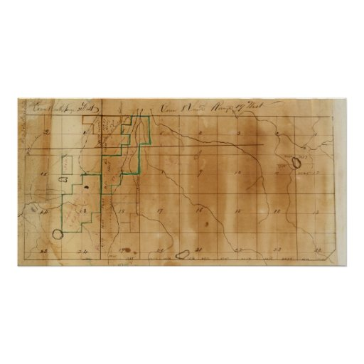 Michigan and Indiana Survey Print