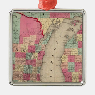Michigan and Wisconsin Christmas Ornament
