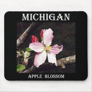 Michigan Apple Blossom Mouse Pad