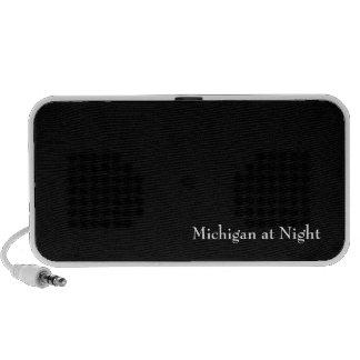 Michigan at Night Laptop Speakers
