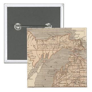 Michigan Atlas Map 15 Cm Square Badge