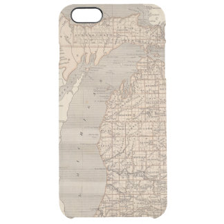 Michigan Atlas Map Clear iPhone 6 Plus Case