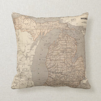 Michigan Atlas Map Cushion