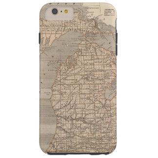 Michigan Atlas Map Tough iPhone 6 Plus Case