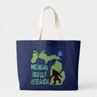 Michigan Bigfoot Research Large Tote Bag
