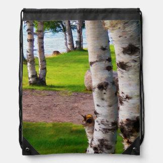 Michigan Birch Trees By Lake Rucksacks