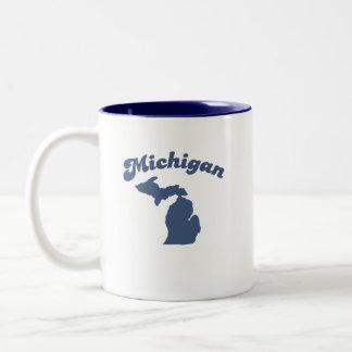 MICHIGAN Blue State Two-Tone Mug