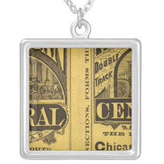 Michigan Central Railroad Silver Plated Necklace