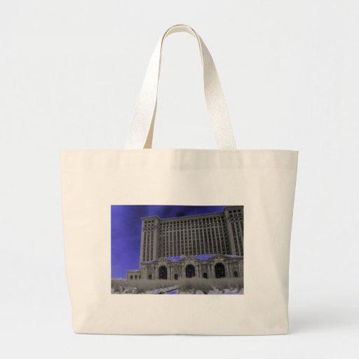 Michigan Central Station, Detroit Canvas Bags