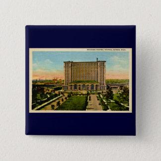 Michigan Central Station Detroit, Michigan 15 Cm Square Badge