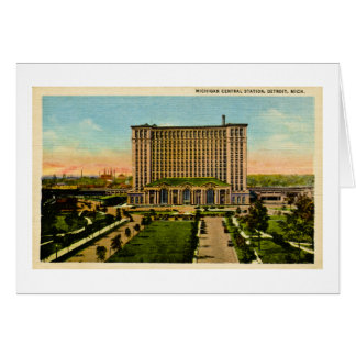 Michigan Central Station Detroit, Michigan Card