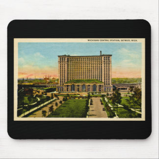 Michigan Central Station Detroit, Michigan Mouse Mat