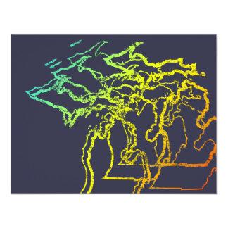 michigan chill blur 11 cm x 14 cm invitation card