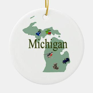 Michigan Christmas Tree Ornament